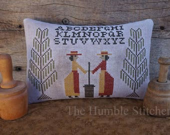 Churn, Butter, Churn...Primitive PAPER Cross Stitch Pattern By The Humble Stitcher