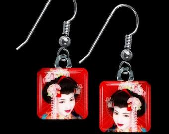 Geisha Earrings(ECuOr1.3)