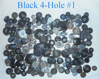 Button Mania #3 - Black, Gray, and Brown.