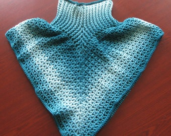Blue Ombre Baby/Toddler Poncho
