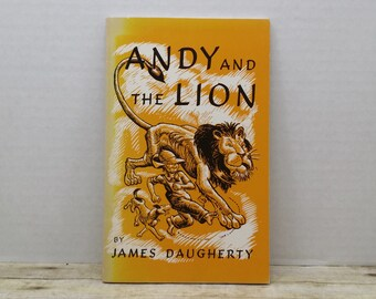 Andy and the Lion, 1988, James Daugherty, vintage kids book