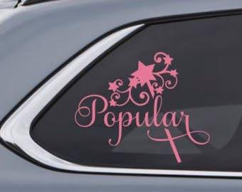 Popular Galinda Glinda Car Decal Sticker - Inspired by Wicked the Musical - Wizard of Oz - Custom Vinyl Decal