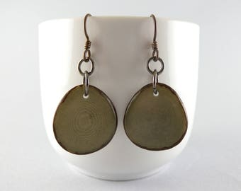 Gray Tagua Nut Eco Friendly Earrings with Free USA Shipping  #taguanut #ecofriendlyjewelry