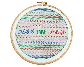 SALE Embroidery Pattern Modern Sampler | DIY Embroidery Kits | Embroidery Hoop Art | Hand Embroidery Pattern | Beginner Embroidery Kit