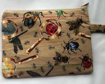Bug Zipper Wristlet