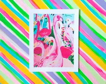 "PARTY PARTY! 11x14"" flamingo fine art print"
