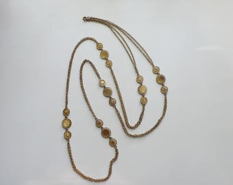 Vintage Gold Tone Chain Necklace | 51.5 in