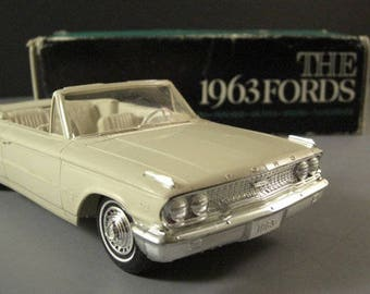 1963 Ford Galaxie Convertible Dealer Promo Model Car // American Automotive Advertising Swag