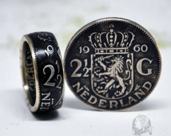 Netherlands 2-1/2 Gulden Silver Coin Ring