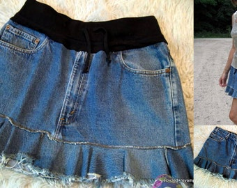 recycled skirt sewing tutorial pdf - changing waistband