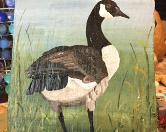 Hand painted Canadian Goose Slate