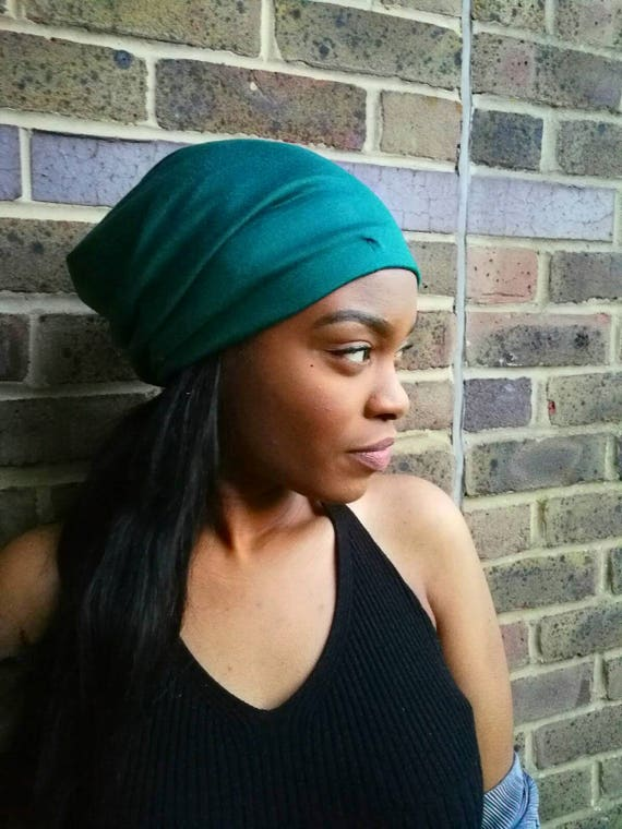 SATIN LINED BEANIE Forest Green