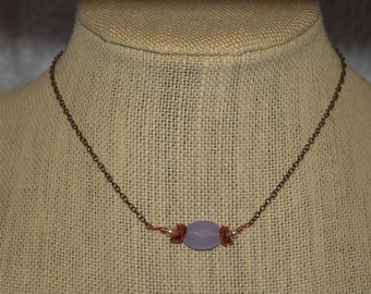 The sweet little Necklace...antique Copper