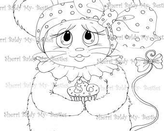 INSTANT DOWNLOAD Digital Digi Stamps Big Eye Big Head Dolls NEW Bestie  Scan0002 My Besties  By Sherri Baldy