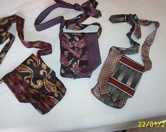 Vintage neck tie Evening Bags -