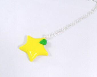 Kingdom Hearts Paopu Fruit Necklace, Cute, Kawaii :D