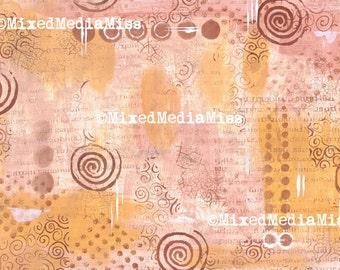 Art Journal Background - Mixed Media digital download