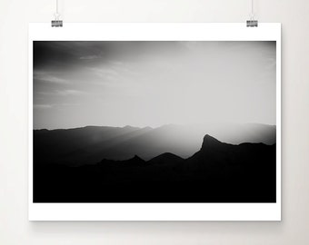 mountains photograph zabriskie point photograph death valley photograph black and white photograph sunset photograph landscape photograph