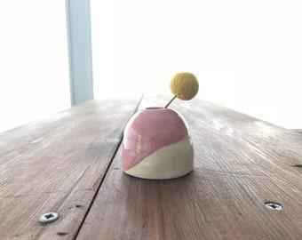 Pink Ceramic Minature Bud Vase / Handmade / Housewarming / Centerpiece / Bridesmaid Gift / Wedding /  / Gifts for Her