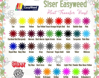 "EasyWeed Siser IRON-ON Heat Transfer Vinyl Sheet of 12""X 15"" **Combine Shipping Discount**"