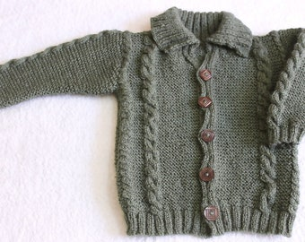 Hand knitted Sweater/Baby knit sweater/ Baby Cardigan/