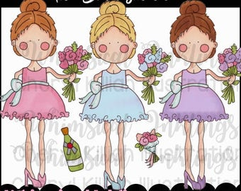 The Bridesmaid Clipart Collection- Immediate Download