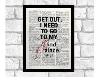 Sherlock Quirks and Quotes Dictionary Page Art Print ~ Sherlock/Moriarty Fan Print Art on 8x10 upcycled dictionary page ~ Jim Moriarty