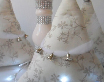 Moving sale. Prices slashed. Was 25 decoration, Christmas tree, white Christmas tree, white Christmas decor,fabric Christmas