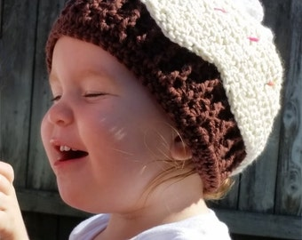 Cupcake beanie hat - Infants ( 3-9 months)