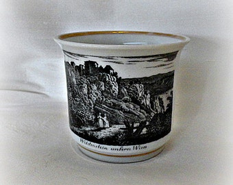Antique Transferware Mug Scenic Cup 1840's