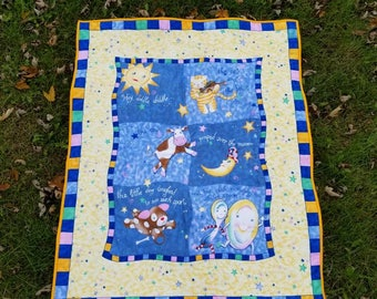 Hey Diddle Diddle Nursery Rhyme Baby Quilt