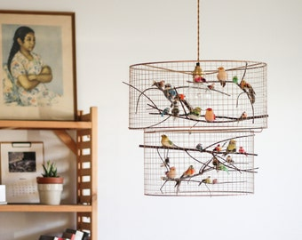 Double Birdcage Pendant Light Chandelier