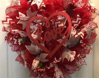Heart Shaped Valentine Wreath