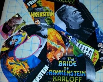 Frankenstein bib and burp cloth set/ Frankenstein bib