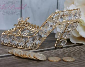 NEW!!! Slipper Box, Gold Wedding Arras, Ring Box, Arras de Boda, Unity Coins, Wedding Arras, Silver Wedding Arras, 13 wedding Unity Coins