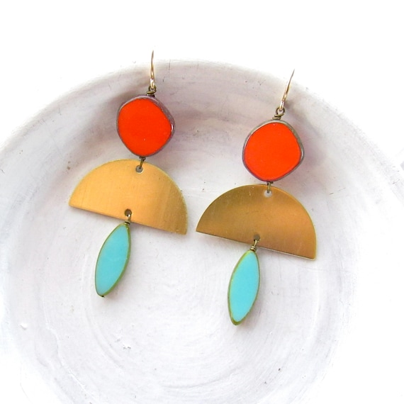 Half Moon Earrings > Turquoise