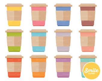 Coffee To Go Clipart Illustration for Commercial Use | 0166