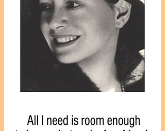Dorothy Parker Poster - All I need is room - Humorous Quote - Literary Poster