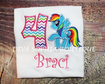 Rainbow Dash Bodysuit - T-shirt - Birthday - My Little Pony