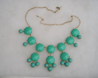 Ily Couture Turquoise Blue Statement Necklace