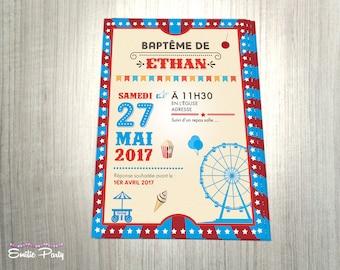 Invitation theme: Carnival / county fair