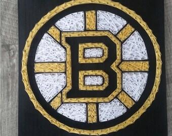 Boston Bruins String Art, hockey decor, bruins fan, Boston strong