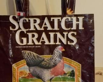 Feedsack Grocery Tote, Grocery Tote, Grocery Bag,