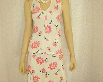 3pc Floral Halter Skirt Set and Sleeveless Tank Top