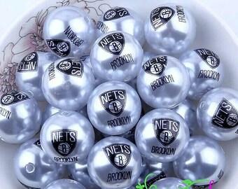 Brooklyn Nets Beads-Qty: 10