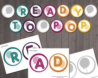 READY TO POP Baby Shower Banner - Printable Ready to Pop Sign -  Instant Download