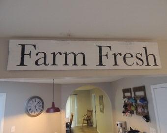 Large Farm Fresh Sign