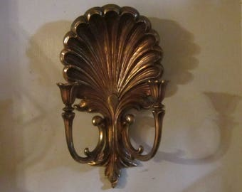 gold gilt syroco candle holder wall mount gorgeous hollywood regency