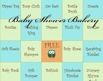 Boy Owl Baby Shower Game, Baby Shower Bingo Game, Printable Baby Shower Game, Boy Owl Baby Shower, Instant Download Baby Shower Game