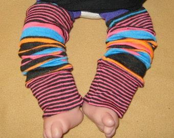 Leg warmer, Infant, newborn-Neon Orange, Fuschia, Aqua n Black -infant leg warmer, newborn leg warmer, baby girl leg warmer, baby leg warmer